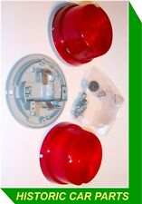 Pair Hella ROUND RED REAR SIDELIGHTS uses 12v 5watt bulb for 1970-90 vehicles