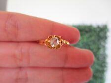 .20 Carat Rose Cut Diamond Yellow Gold Ring 10k R103 sep *