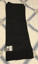 New! Alfani Mens Space-Dyed Scarf Black/Charcoal-Retail $40.00