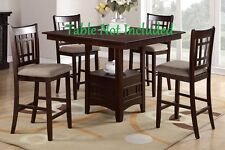 Beautiful Dining Room Furniture Counter Height Chairs Lovely Wood Finish Cushion