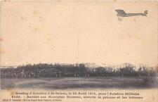 CPA 22 MEETING D'AVIATION A ST BRIEUC 1912 POUR AVIATION MILITAIRE BATHIAT SUR M