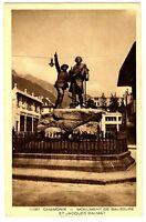 CPA 74 Haute-Savoie Chamonix Monument de Saussure et Jacques Balmat