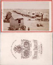 Belgique, Plage à identifier, cabines, bureau pour les cours des ânes, circa 187