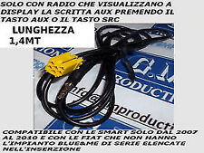 Cavo AUDIO AUX IPHONE GALAXY S mp3 GRANDE PUNTO MUSA ALFA 159 e SMART 2008 1,4MT