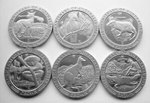 COMPLETE SET OF 1788 - 1988 BICENTENARY OF AUSTRALIA ISLE OF MAN CROWNS IoM MANX