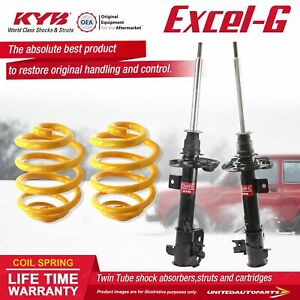 Front KYB EXCEL-G Shock Absorbers Lowered King Springs for SUZUKI Swift FZ 1.4