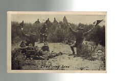 1918 Jackson MI US Army Soldiers On Firing Line Postcard Cover Mexico Revolution