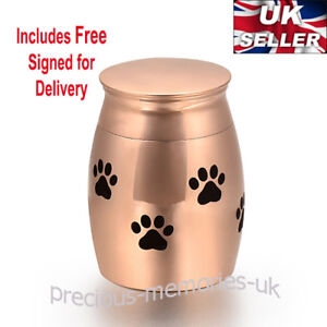 Rose Gold Mini Cremation Ashes Urn - Funeral Memorial Keepsake - with Gift Box