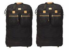 "Pack of 2 - 40"" Black Rolling Wheel Duffel Bag Spinner Suitcase Duffle Luggage"
