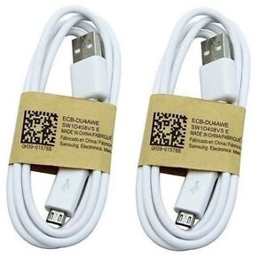 Pack of 2 Original Micro USB Charger Data Cable Samsung Galaxy  S4 S3 s5 s6 s7