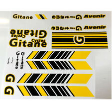 Transfers 0959 Gitane Bicycle Stickers Decals Yellow//Gold