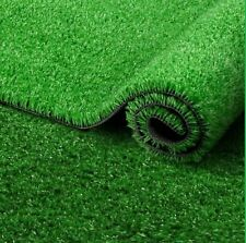 New Dark Artificial Grass Lawn Garden Fake Realistic Astro Turf Matt 15mm Pile