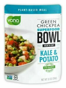 Vana Life Foods, Green Chickpea Superfood Bowl - Kale & Potate, 10 Oz.(3 Pack )