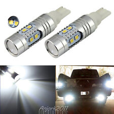 2X 15W Super White 921 T10 T15 Backup Reverse LED Lights Lens Bulbs