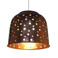 Copper Metal Dome with Holes Pendant Shade - 32cm by Loxton Lighting