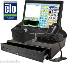 Corner Store POS Retail All-in-one Station Complete System with ELO 4GB 15E2 NEW
