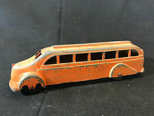 Old Vtg Collectible Metal Masters Co Orange Toy Bus Made In The USA