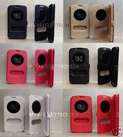 PER LG K8 K350N K350E K350DS COPERTURA CUSTODIA COVER FLIP LIBRO FINESTRA STAND