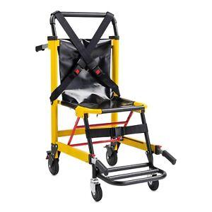 EMS Stair Chair Emergency 4-Wheels Heavy Duty Evacuation Chair - Yellow
