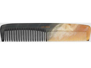 Hans Kniebes Germany Mens Hair Comb Real Horn Handmade Pocket Size