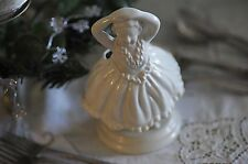 New listing Vintage White Pottery Ballerina Planter. Made In Japan