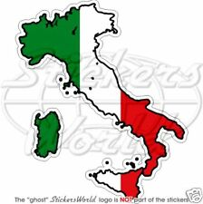 ITALY Italian Map-Flag Italia Vinyl Sticker, Bumper Decal