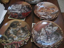 Bradford Exchange Baskets of Love cats collection numbered, 5 pcs., Coa, case