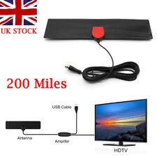 200Mile Range Digital HD Skywire Antenna TV 4K Antena Digital HDTV 1080P UK