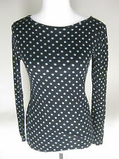 Womens Ann Taylor Loft Size Extra Small Dots Long Sleeve Shirt