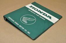 "Vintage Honda Motorcycle 1 1/2"" 7 Ring Shop Repair Service Manual Binder Only V"