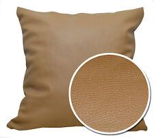 Pb310a Tan/Khaki Faux Leather Skin Soft PU Cushion Cover/Pillow Case*Custom Size