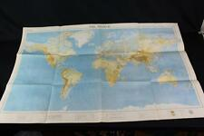 American Geographical Society of New York World Map 1937 Litho Hoen Baltimore EX