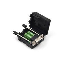 DB9 Female D-Sub 9 Pin Plug Breakout Terminals Solderless Nut Type C.PI