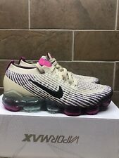 Nike Womens Air VaporMax Flyknit 3 Size 9 Shoes Fossil Black Pink AJ6910-201