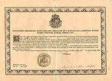 Certificato Laurea Scienze Religiose Autografo Cardinale Costantino Patrizi Naro
