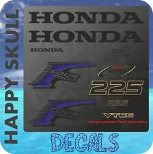 Honda 225 hp Four Stroke outboard engine decal sticker set reproduction