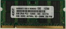 2GB DDR2 MEMORY FOR  Compaq 8710w Mobile Workstation