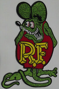 Rat Fink High quality embroidered cloth back patch.