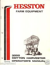 Farm Manual - Hesston - 3000 - Tractor Cotton Harvester Operator Manual (FM244)