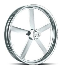 """DNA """"VICTORY"""" CHROME FORGED BILLET 21"""" X 3.25"""" FRONT WHEEL HARLEY SOFTAIL"""