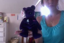 Ty Rare Beanie Baby Princess Diana The purple Bear 1997 Retired