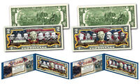 CONFEDERATE & UNION GENERALS of the American Civil War $2 U.S. Bills - SET OF 2