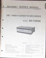 Sharp VC-7300H video recorder service repair workshop manual (original copy)