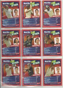 2008 Weet- Bix Stat Attack Cricket cards lot of Nine Near Mint Ponting Gilchrist