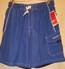 Speedo NWT Mens Blue White Swim Trunks Shorts Size M