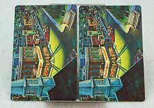 Single Swap Playing Cards. Vintage MAIN STREET TOWN Mid Century 1970s (2 Single)