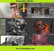 Estudio de diseño de animación de gráficos 3D Blender software para aplicación de plataforma Windows