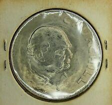 1965 Sir Winston Churchill Memorial Crown Coin England British Queen Elizabeth