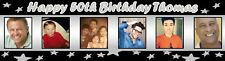 Personalised Birthday Party Banner Poster w photo -18th, 21st, 30th, 40th, 50th