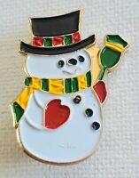 Christmas snowman enamel badge /pin /brooch size 33 x 25 mm